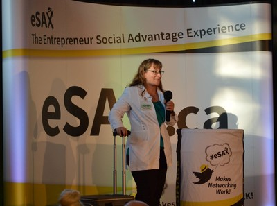 Sylvie Demers from Mobile Optician Services at eSAX Pitchfest 2018. Photo by Cathy Duong